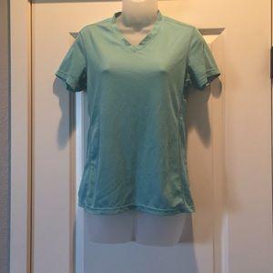 REI workout shirt.